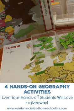 These 4 simple hands-on geography activities will appeal to even the workbook-loving students in your homeschool.