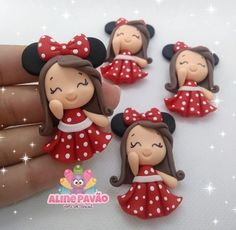 Sculpey Clay, Polymer Clay Figures, Cute Polymer Clay, Cute Clay, Fondant Figures, Polymer Clay Crafts, Minnie Mouse Pink, Clay Baby, Fondant Toppers