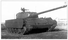 The T-44/100 prototype (February 1945). It was manufactured to carry the new gun because the T-34 transmission could not endure the recoil..