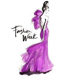 "I absolutely love this picture. I love the color, the style of gown, and how it says, ""Fashion Week."" I want to go to Fashion Week so bad, that I will do everything in my power to do so."
