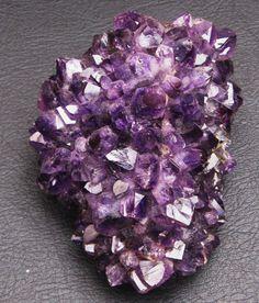 Amethyst Quartz Crystal Cluster Uraguay spiritual third eye healing addiction