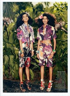 Shades of Blackness - allcoveredinglitter: Liya Kebede & Imaan Hammam...