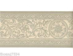 gray and cream wallpaper border   ... Garden > Home Improvement > Building & Hardware > Wallpaper > Borders
