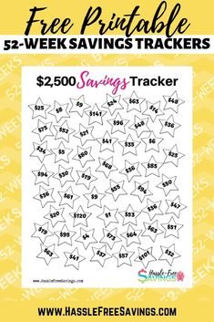 These free printable money challenge charts will help you track your savings. Color in or check off your savings tracker each week for 52 weeks. Saving Money Chart, Money Saving Tips, Money Tips, Money Savers, Finanz App, 52 Week Money Challenge, Sinking Funds, Budget Planer, Savings Plan