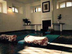 Indoor Yoga Space on the Keri Lincoln Primal Yoga Retreat in Portugal