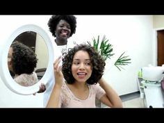(2) Women haircut on long hair to a curly bob cut - YouTube