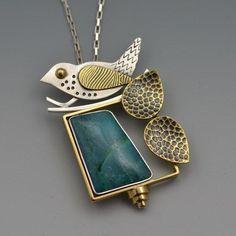 Turquoise Bird Pendant