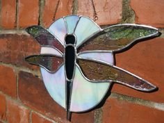 Glass Dragonfly Window Hanging/Sun-catcher by GlassHeartArt on Etsy