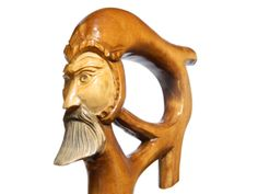 Odin carved walking cane, from Etsy
