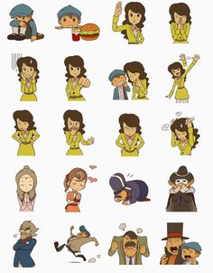 More stickers that come with the Azran Legacy. The stickers include, Professor Layton, Luke, Emmy, Flora, Descole, Barton, Chemley, Grosky, Targent, and Aurora.