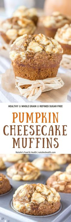 Fragrant, soft and lusciously sweet, Pumpkin Cheesecake Muffins made with all HEALTHY ingredients, refined sugar-free are the best thing this Fall. Flavored with real pumpkin and warm spices, filled with a cream cheese surprise it's a dessert that will ma http://healthyquickly.com