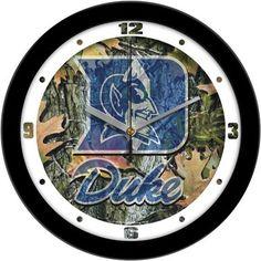NCAA Duke Blue Devils Camo Wall Clock