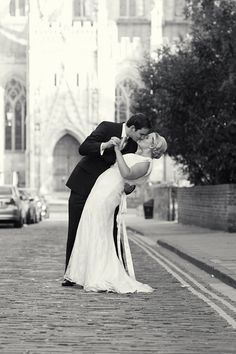 Bride and groom at Beverley Minster, East Yorkshire