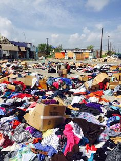 """Their thoughts are in the moment of wanting to help – oblivious to the bigger picture of what happens after they drop off their bags or boxes of clothing donations."" http://corpuschristi.citymomsblog.com/mom/disaster-after-disaster-donations-not-helpful/"