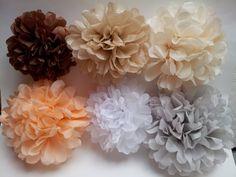 Tissue Paper Ball, Tissue Pom Poms, Tissue Flowers, Paper Pom Poms, Paper Flowers, Paper Balls, New Crafts, Paper Crafts, Wedding Tissues