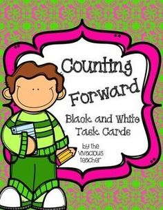 These counting forward task cards are designed to increase number fluency. Students pick a card and follow the directions to count from a starting number to a specific ending number. Grades K-2 ~ http://www.thevivaciousteacher.com