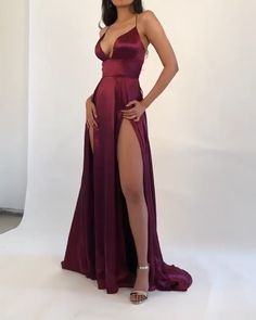 hot sexy prom dresses Hot Selling A Line V Neck Red Long Prom/Evening Dresses with Split Front Tight Prom Dresses, Gala Dresses, Prom Party Dresses, Junior Dresses, Dance Dresses, Homecoming Dresses, Dress Prom, Silky Prom Dress, Silk Dress