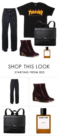 """""""Day to night"""" by kyrann ❤ liked on Polyvore featuring Vetements, Gianvito Rossi, Monki and Helmut Lang"""