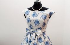50s floral prom dress 1950s bridesmaid dress by ElochkaHandmade