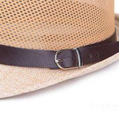 Unisex Braid Fedora Trilby Gangster Cap Beach Sun Flax Panama Hat at Banggood
