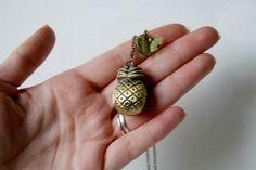 Pineapple Locket Pineapple Jewelry, Pineapple Necklace, Angel Wing Earrings, Drop Earrings, Mini Photo, Antique Brass, Gifts For Friends, Sterling Silver Jewelry, Personal Style