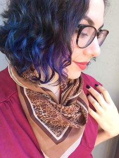 short blue and purple curly hair ombre Ombre Curly Hair, Curly Hair Tips, Purple Hair, Curly Hair Styles, Purple Ombre, Mom Hairstyles, Pretty Hairstyles, Haircuts, Love Hair