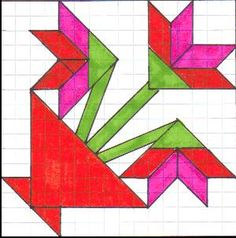 basket of lilies quilt block - Google Search