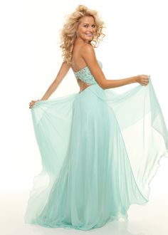 Beautiful Mint Prom Dress with an Open Back Cutout - Paparazzi by Mori Lee 93003 - ThePromDresses.com