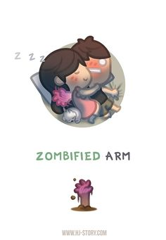 "Check out the comic ""HJ-Story :: Zombified Arm"" http://tapastic.com/episode/77174"