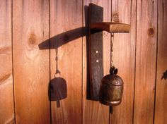 Swayed wine stave Tibetan cow bell by CoolHollowFarms on Etsy