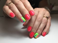 Neon nails nailart desing Neon Nails, Nailart, Beauty, Beauty Illustration, Nails