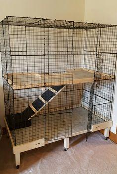 Homemade Flemish Giant Rabbit Cage