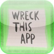 Wreck This App by Keri Smith. Inspired by her book, Wreck This Book, this app inspires creativity through e-Destruction. An interactive stress-reliever, this app combines creativity on a mobile device with real-life activities. #art #apps #yanonfiction