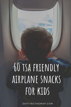 A list of 60 fun food TSA approved airplane snacks for kids. Ideas that you can take through security to feed your toddler or preschooler on an airplane. Airplane Snacks, Airplane Kids, Airplane Travel, Toddler Airplane Activities, Traveling With Baby, Travel With Kids, Family Travel, Traveling Tips, Travelling