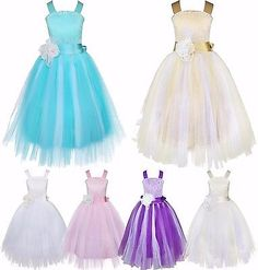 Formal Lace Baby Princess Bridesmaid Flower Girl Dresses Wedding Party Ball Gown