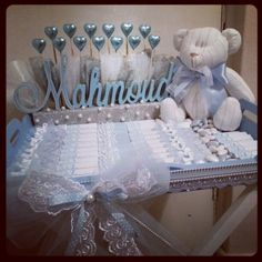 Baby boy chocolate arrangment