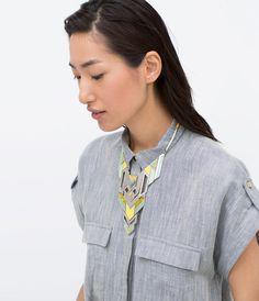 Image 1 de Collier à plaques géométriques en métal de Zara