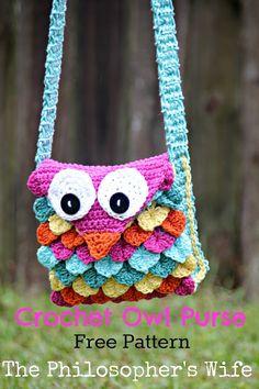 The Philosopher's Wife: Crochet Owl Purse FREE Pattern