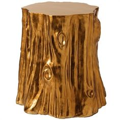 Golden stump table! Maybe easy for someone with lots of trees on their property...