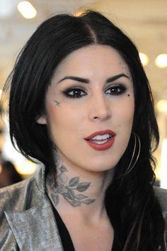 kat von d neck tattoo - Google Search