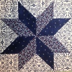 LeMoyne Star, the Easy Way.  Free tutorial by Miss Priss Quilts