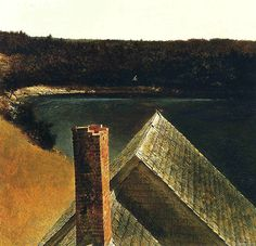 End of Olsons by Andrew Wyeth