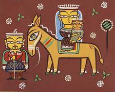 Modern Indian Art, Indian Folk Art, Indian Artist, Modern Art, Contemporary, Saree Painting, Mural Painting, Madhubani Art, Madhubani Painting