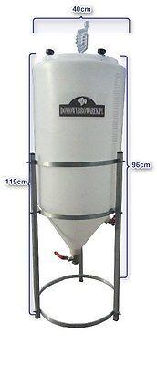 Nieuw! Conische Fermenter tank 80 L Vinificatie Homebrewing Bier Wijn vergisting