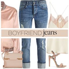 Boyfriend Jeans by mrseclipse on Polyvore featuring polyvore, fashion, style, Zadig & Voltaire, Yves Saint Laurent, Rebecca Minkoff, Delvaux, clothing and boyfriendjeans