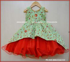 Kids frock designs by Angalakruthi boutique Bangalore dress design frock models for kids in bangalore boutique kids boutique in bangalore Long Frocks For Kids, Frocks For Girls, Little Girl Dresses, Girls Dresses, Kids Dress Wear, Kids Gown, Baby Dress Design, Frock Design, Kids Frocks Design