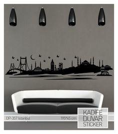 COART Kadife Duvar Sticker İstanbul 195x45cm - evmanya.com