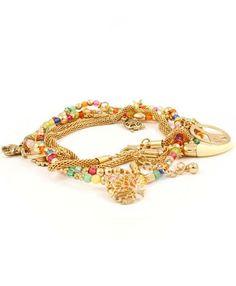 mesh charm bracelet.. mmm I like!