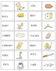 Dominó de palavras - Jogos de Alfabetização - VilaClub