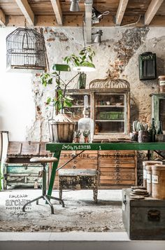 Beautiful colors, textures … shabby industrial <3  The Home Store in Amsterdam